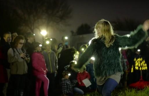 La bailarina María Cabeza de Vaca participa en Luces de barrio 2016