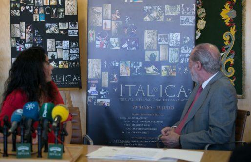 El cartel de Itálica 2017, obra de la pintora Inmaculada Salinas